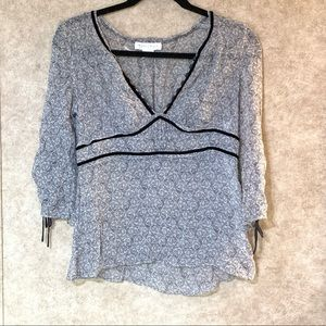 White house Black market   Silk blouse Size S